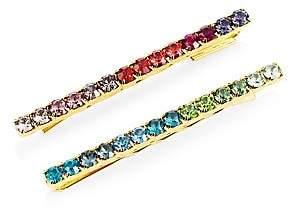 Swarovski Lelet Women's Crystal 2-Piece Barrette Set