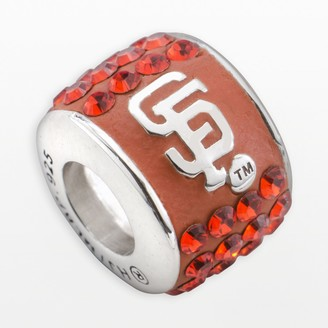 Swarovski Logoart LogoArt San Francisco Giants Sterling Silver Crystal Logo Bead - Made with Crystals