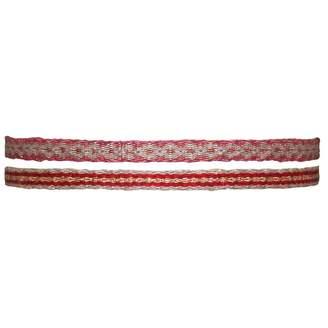 LeJu London - Set of Two Handwoven Bracelets in Pink Tones