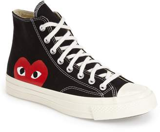 Comme des Garcons x Converse Chuck Taylor(R) Hidden Heart High Top Sneaker