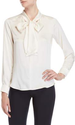 Max Mara Soraia Silk Bow Neck Shirt