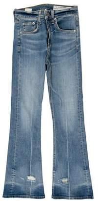 Rag & Bone Mid-Rise Wide Leg Jeans