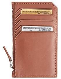 ROYCE New York Men's Zip Leather Credit Card Wallet
