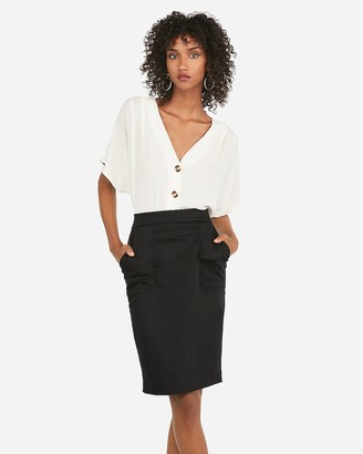 Express High Waisted Patch Pocket Pencil Skirt
