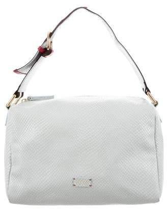 Frances Valentine Embossed Leather Satchel Bag