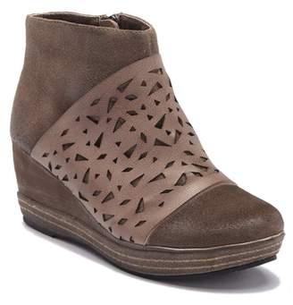 Antelope Lasercut Leather Wedge Bootie