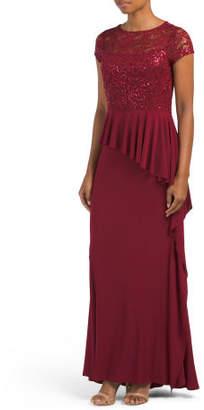 Long Tiered Ruffle Dress