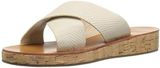 Qupid Women's Flip-15 Wedge Slide Sandal