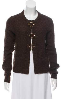 Tory Burch Long Sleeve Scoop Neck Cardigan
