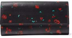 IRO Floral-Print Leather Continental Wallet