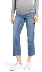 1822 Denim Fray Hem Straight Leg Maternity Jeans