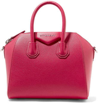 Givenchy Antigona Mini Textured-leather Shoulder Bag - Fuchsia