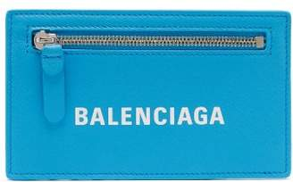 Balenciaga - Everyday Leather Card Holder - Womens - Blue