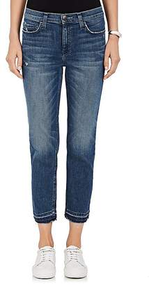 Current/Elliott Women's The High Waist Cropped Straight Jeans