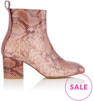 Hudson April Heeled Boots- Light Pink