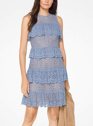 Michael Kors Tiered Corded Lace Dress
