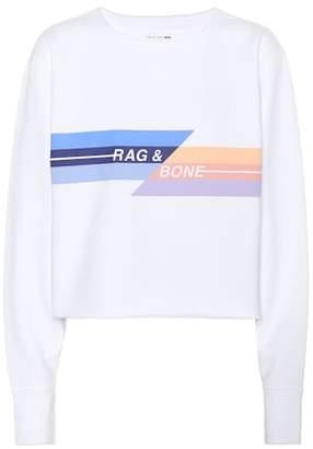 Rag & Bone Glitch cropped cotton sweatshirt