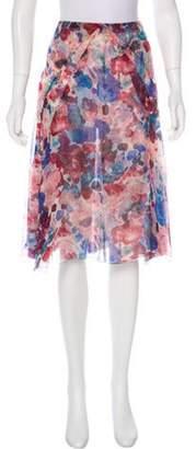 Chanel Silk Skirt Pink Silk Skirt