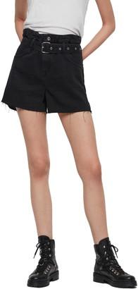 AllSaints Hannah Paperbag Waist Denim Shorts