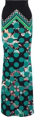 Roberto Cavalli Printed Stretch-Jersey Maxi Skirt