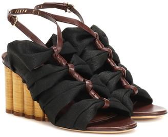 Salvatore Ferragamo Leather-trimmed sandals