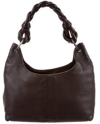 bebbc3fa6bd5 Bottega Veneta Intrecciato-Trimmed Leather Shoulder Bag