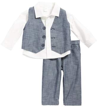 Nordstrom Shirt, Chambray Vest & Pants Set (Baby Boys)
