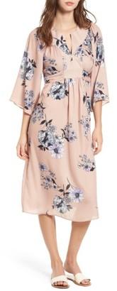 Women's One Clothing Floral Print Kimono Midi Dress $55 thestylecure.com