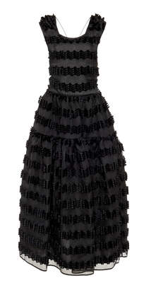 Cecilie Bahnsen Ruth Striped Fil-Coupé Organza Gown