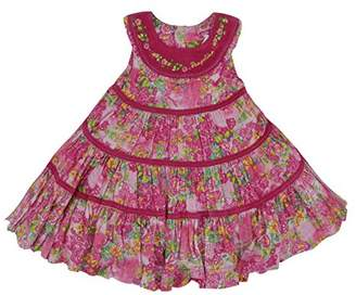 Pampolina Baby-Girls Kleid O. Arm Cord Floral Sleeveless Dress,(Manufacturer size: 92)