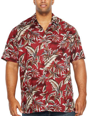 Co THE FOUNDRY SUPPLY The Foundry Big & Tall Supply Tropicals Short Sleeve Button-Front Shirt-Big and Tall