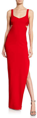 LIKELY Lilliana Sleeveless Gown with Side-Cutouts & Slit