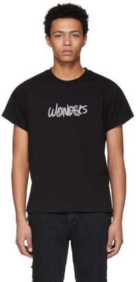 Wonders SSENSE Exclusive Black Reflective Logo T-Shirt