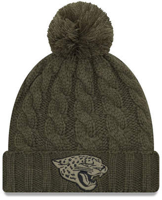 New Era Women's Jacksonville Jaguars Salute To Service Pom Knit Hat
