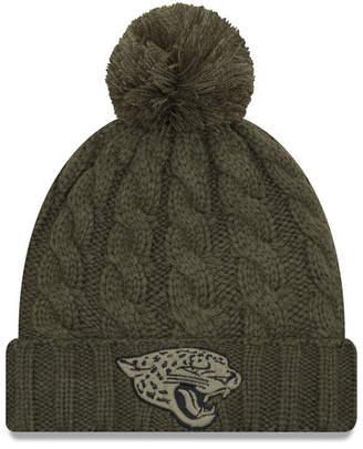 huge discount cef4e 9c585 ... france joy at macys new era women jacksonville jaguars salute to  service pom knit hat 613eb