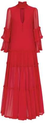 Alexis Hawkins Silk Maxi Dress