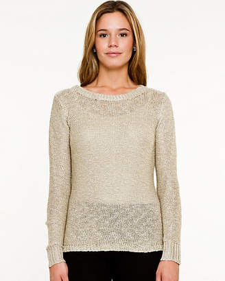 Le Château Knit & Woven High-Low Sweater