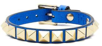 Valentino Rockstud Leather Bracelet - Womens - Blue