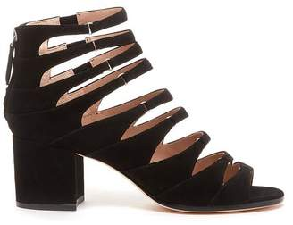 Pour La Victoire Amani Black Block Heel Sandal