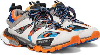 Balenciaga Track Nylon, Mesh And Rubber Sneakers