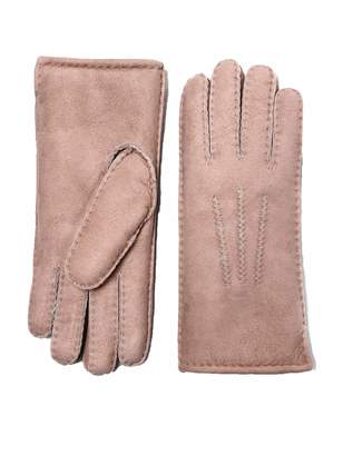 eeb131c76 YISEVEN Women's Merino Rugged Sheepskin Shearling Leather Gloves Mittens  Sherpa Fur Cuff Thick Wool Lined and