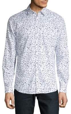 Selected Floral-Print Long-Sleeve Shirt