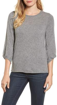 Velvet by Graham & Spencer Pointelle Yoke Sweater