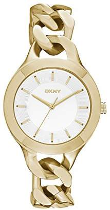 DKNY DNKY5) Women's Quartz Watch with Gold Dial Analogue Display and Gold Stainless Steel Bracelet NY2217