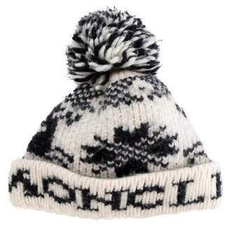 Moncler Wool-Blend Knitted Beanie
