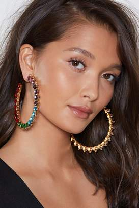 Nasty Gal I Can See a Rainbow Diamante Earrings