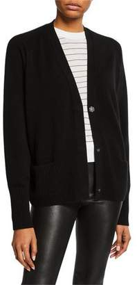 Vince Wool/Cashmere Raglan Snap-Front Cardigan
