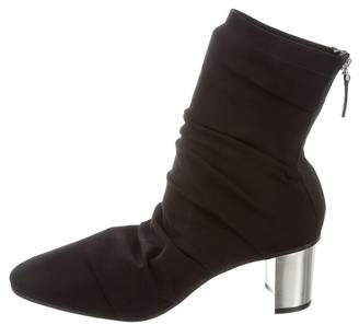 Emilio Pucci Ruched Ankle Boots