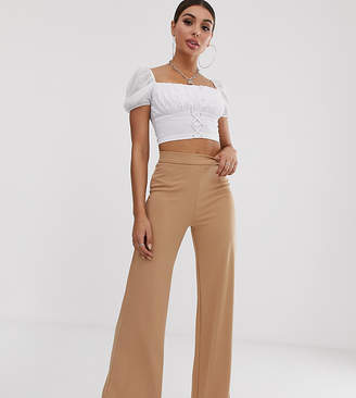 Naanaa NaaNaa high waisted pants in camel