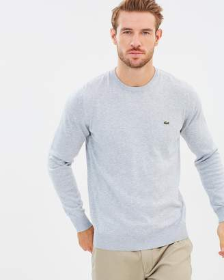 Lacoste Basic Crew Neck Cotton Sweater